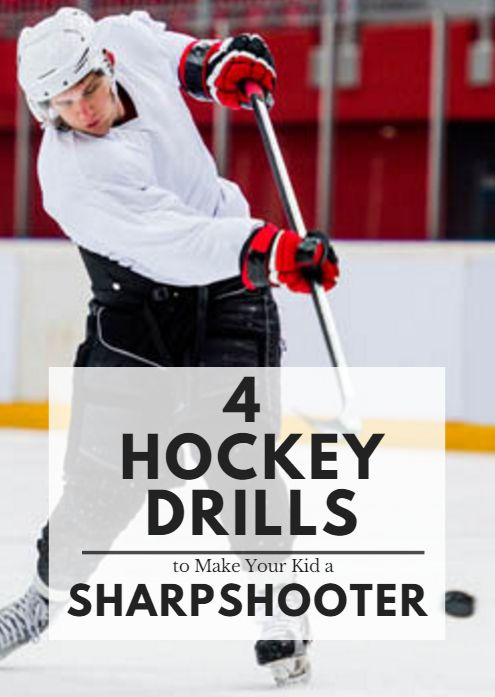 Although there are professional and collegiate teams that prioritize defensive-minded play (look no further than the NHL come playoff time), hockey remains a game that is predicated on scoring more goals than the opposition. With that in mind, players that have powerful, accurate shots remain invaluable to the successes of each team. These four drills will help develop the shooting abilities of young hockey players4 Hockey Drills to Make Your Kid a Sharpshooter #Hockey #Hockeydrillsforkids