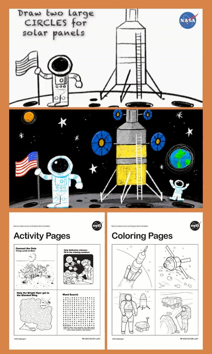 Color My Space with NASA Coloring Activities for Young