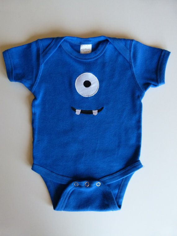 Monster Baby Applique Onesie For Mommys Little by mamabijou, $17.00