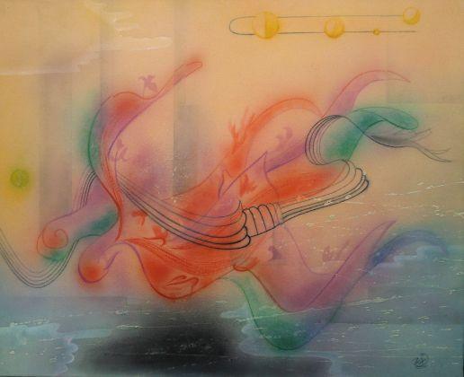 キャンバス(綿布)にアクリル絵具で描きました。安らぎに満ちた希望あふれる心象風景を描いた東洋的抽象画です。ぼかしを使って光沢のない柔らかい仕上げになっておりま...|ハンドメイド、手作り、手仕事品の通販・販売・購入ならCreema。