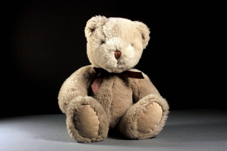 www.mountainairevintage.com Excited to share this cuddly soft teddy bear from my #etsy shop: Stuffed Animal, Teddy Bear, T L Toys #teddybear #stuffedanimal #brownbear
