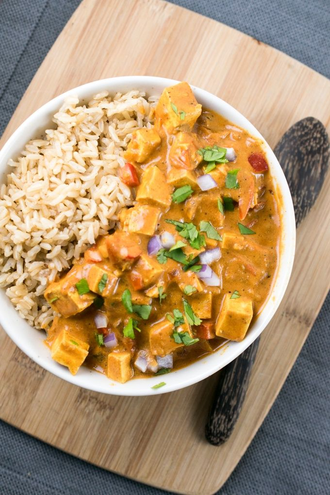 Tofu Tikka Masala Made Vegetarian And Vegan Using Coconut Milk