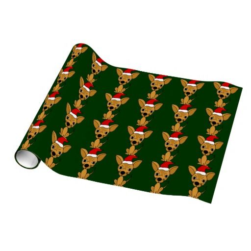 Funny Chihuahua Dog Christmas Wrapping Paper Chihuahuas