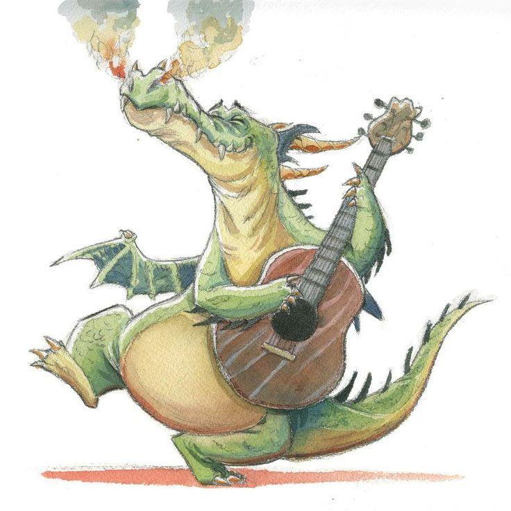 Смешной дракон рисунок
