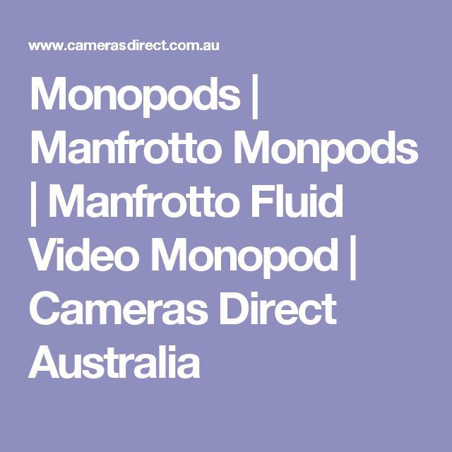 Monopods | Manfrotto Monpods | Manfrotto Fluid Video Monopod | Cameras Direct Australia