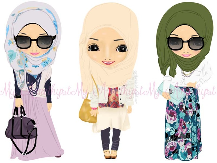 These cartoons got hijabi styyyyyle!