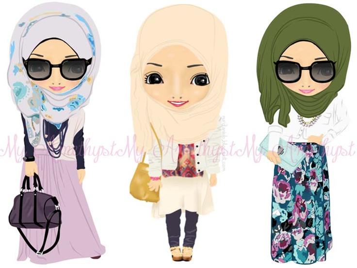 These cartoons got hijabi styyyyyle!