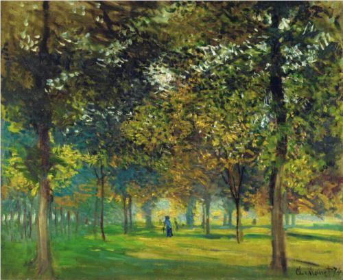 The Allee du Champ de Foire at Argenteuil - Claude Monet