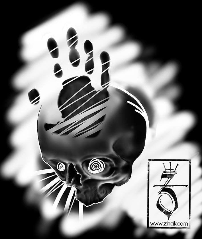 Martin Tattooer Zincik - Czech tattoo artist, tetování Brno / Praha,  skull digital tattoo art