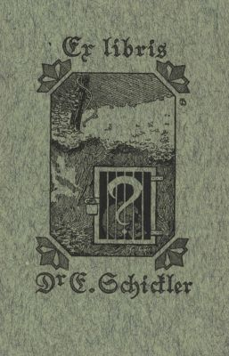 Bookplate by Karl Berkhan for E. Schickler, 1900c.