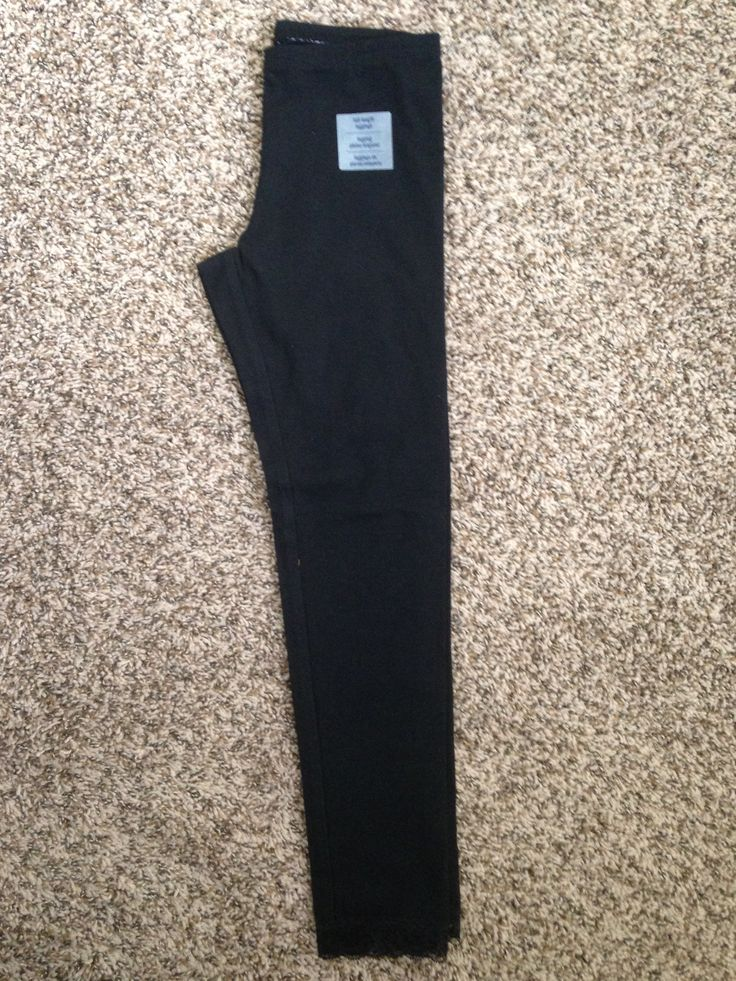 Old Navy Black Lace Trimmed Leggings A. Old Navy - $7 B. None C. My daughters prefers leggings over structured pants, so these are perfect for everyday uniform wear!