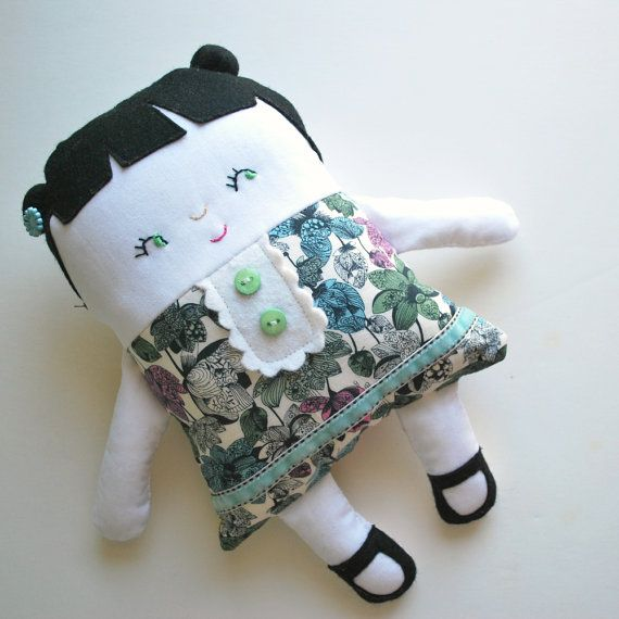 Two Faced Flip Doll in Liberty of London Dress