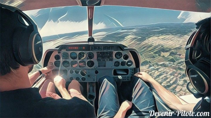 Jour 20 - Vols sans instructeur... ou presque ! Dans le but de préparer le lâché solo et le vol avec le superviseur de Marc, nous volons comme si nous étions sans instructeur à bord