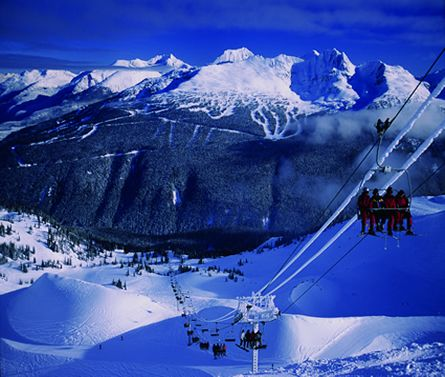 Whistler-Blackcomb - harmony/symphony peering over to 7th Heaven...Can't wait to get the kids skiing here!