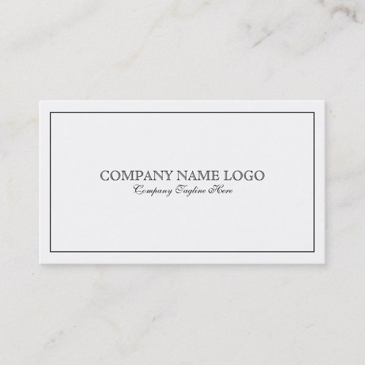 Modern Simple White With Tin Black Border Business Card Zazzle Com Business Card Modern Business Cards Printing Double Sided