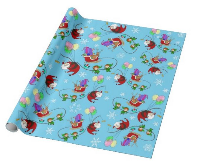 """""""A christmas exchange"""" custom christmas wrapping paper pattern on sale in my zazzle store!! www.zazzle.com/martinaterzi check it out!"""