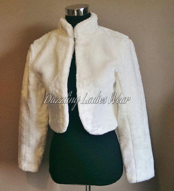 Long Sleeved Faux Fur Bolero / Shrug / by dazzlingladieswear