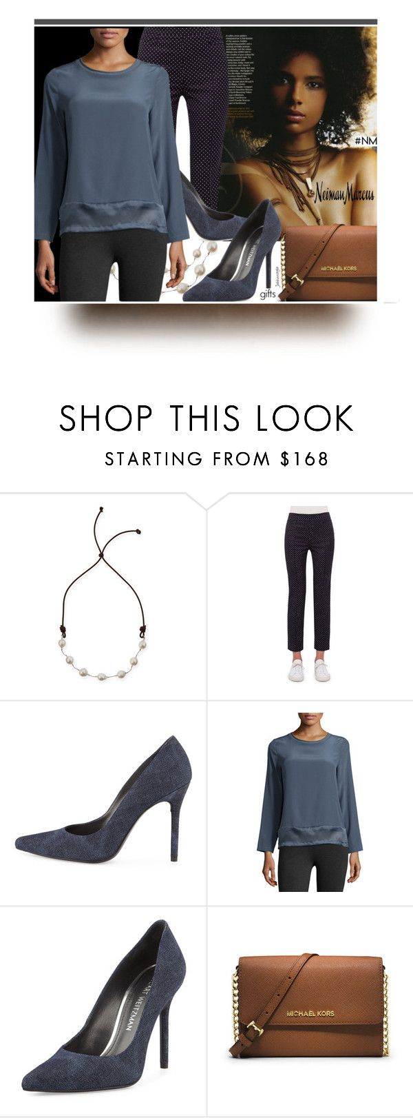 """The Holiday Wish List With Neiman Marcus: Contest Entry"" by jahkun ❤ liked on Polyvore featuring Margo Morrison New York, Neiman Marcus, Akris Punto, Stuart Weitzman, Peserico and MICHAEL Michael Kors"