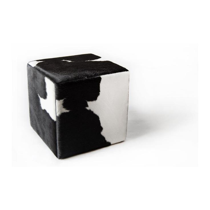 cowhide cube cover* black white ORDER HERE: http://www.furhome.gr/shop/en/cowhide-cube-black-white-271.html