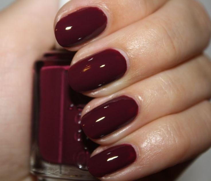 Essie Bordeaux Nails Maroon Nail Polish Nails Maroon