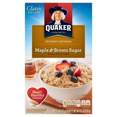 Quaker Instant Oatmeal Maple & Brown Sugar 10 ct