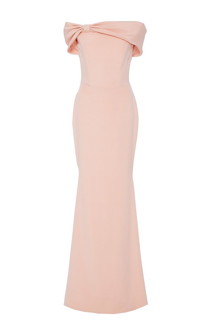 Christian Siriano off-the-shoulder bow gown
