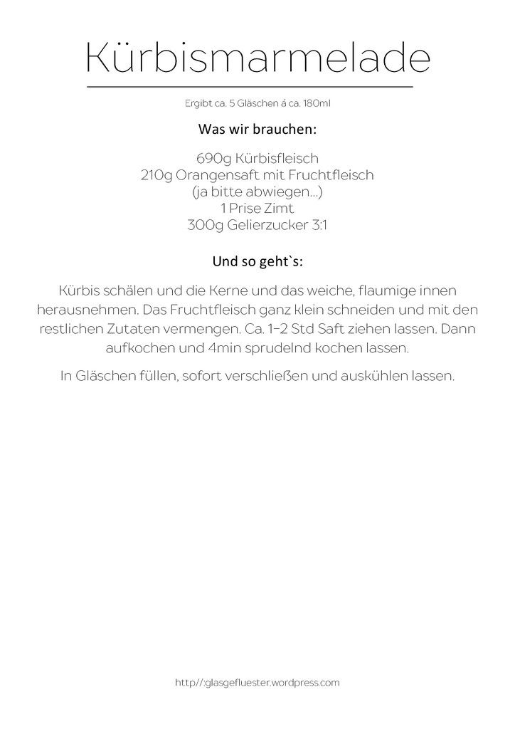 Rezept Kürbismarmelade by Glasgeflüster