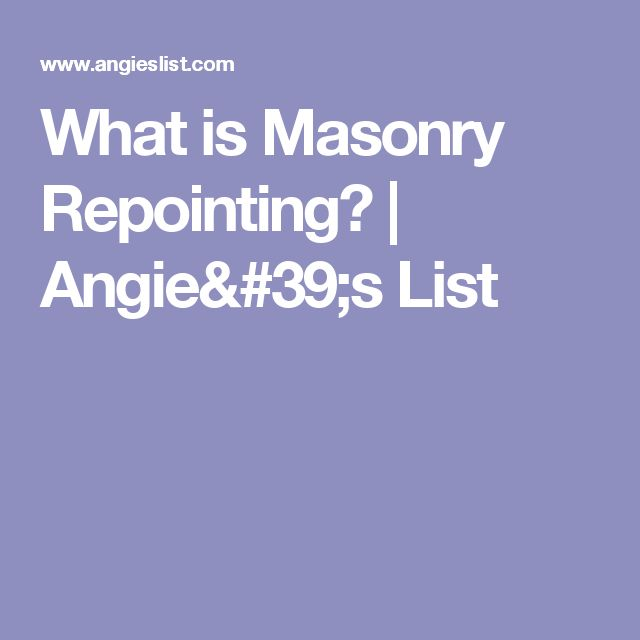 What is Masonry Repointing? | Angie's List