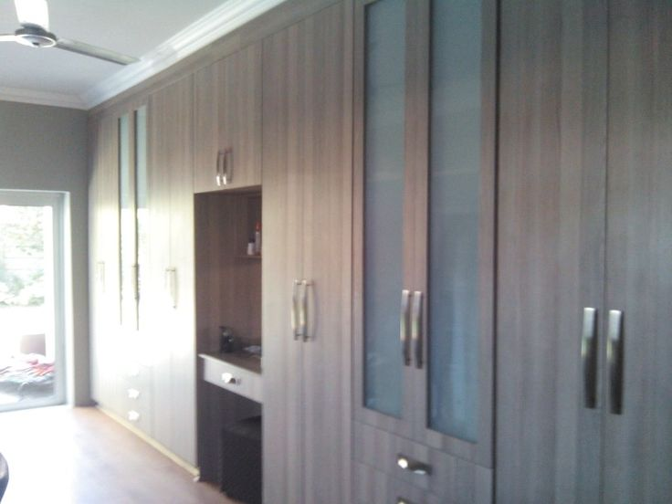 Coimbra melamine BIC with dresser drawer and frosted glass doors