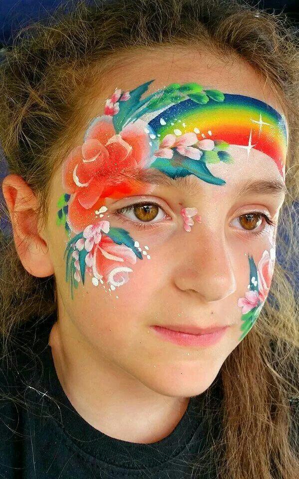 44 besten schminken regenbogen bilder auf pinterest bemalte gesichter karneval und kinder make up. Black Bedroom Furniture Sets. Home Design Ideas
