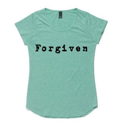 Ladies Christian T-Shirt - 'Forgiven'