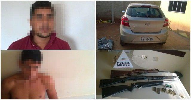 Veículo roubado e espingardas são encontradas em casa de ex-vereador de Brasilândia de Minas diz PM