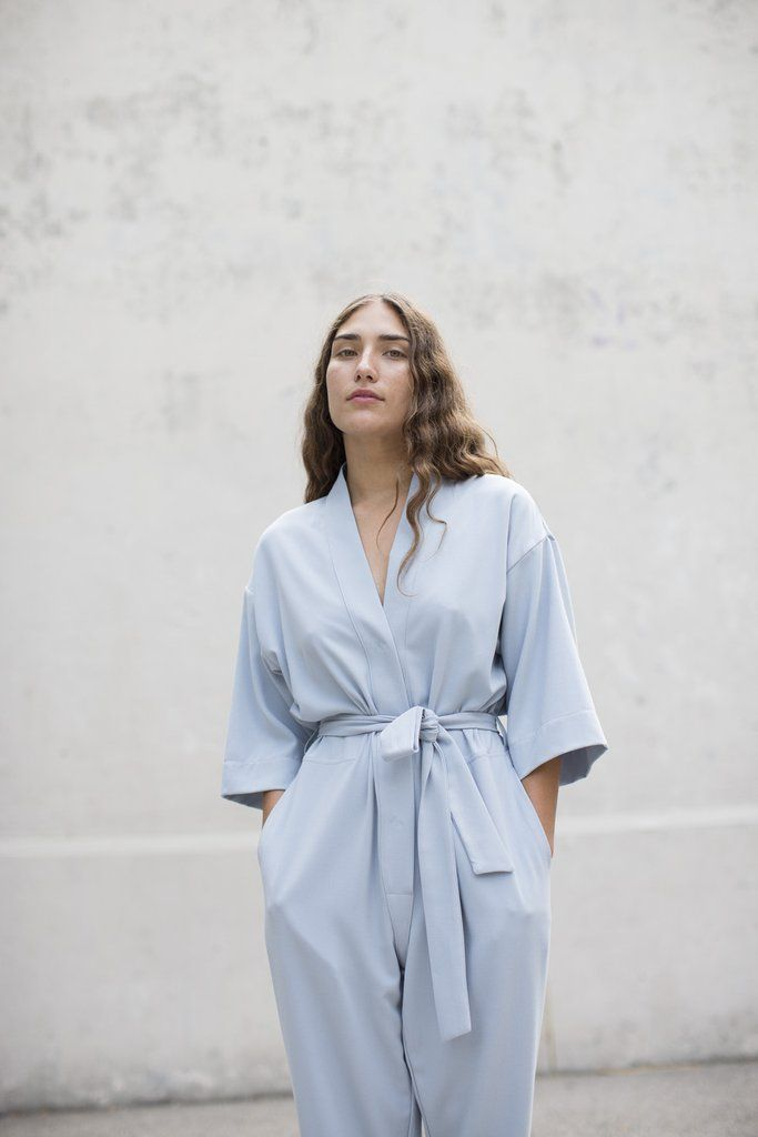 the perfect jumpsuit in the perfect shade of blue