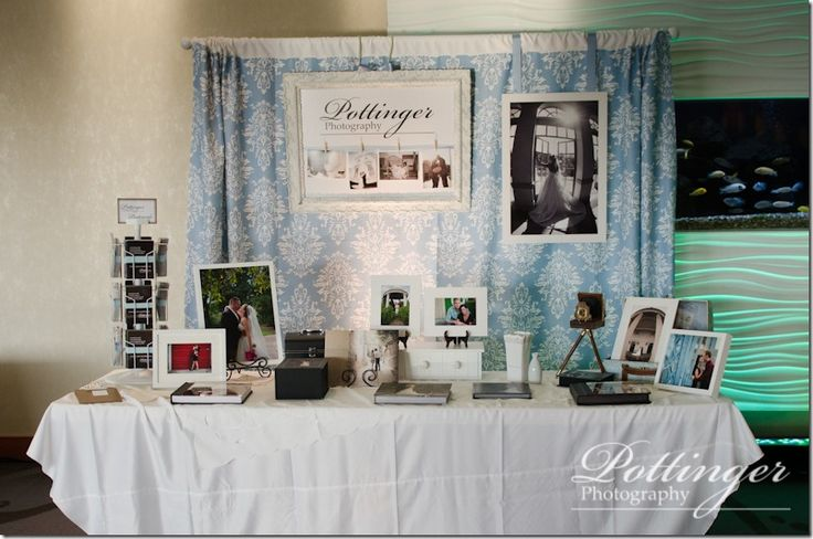 Gorgeous Backdrop Display From Pottinger Photography At The Newport Wedding Aquarium Bridal Show