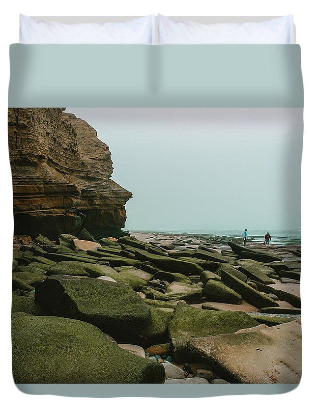 """Low Tide"" Landscape photography on a duvet cover by Valerie Rosen Photography."