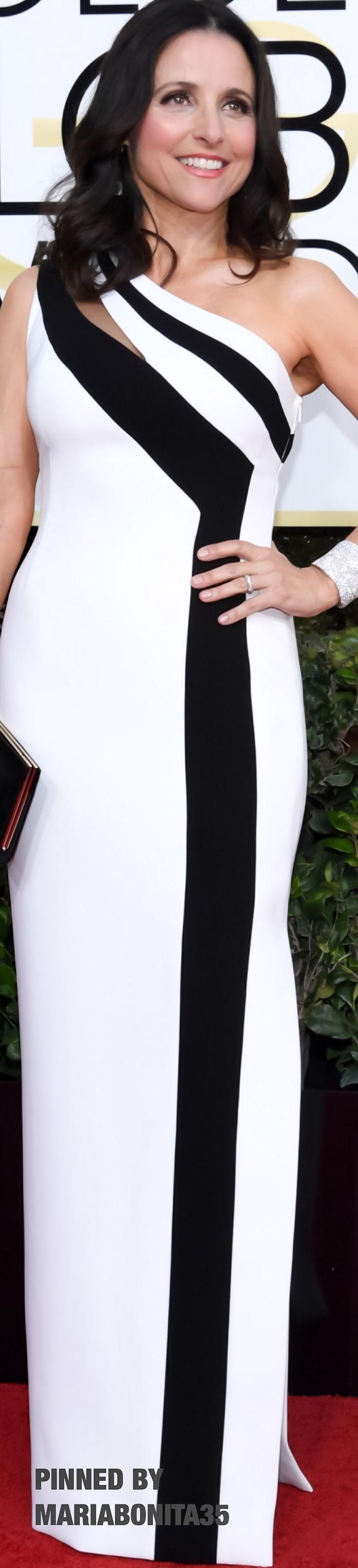 2017 Golden Globe Awards Red Carpet Arrivals  Julia Louis-Deyfrus wearing Georges Chakra