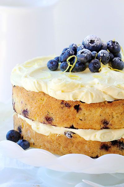 blueberry zucchini cake with lemon buttercream ~ http://iambaker.net