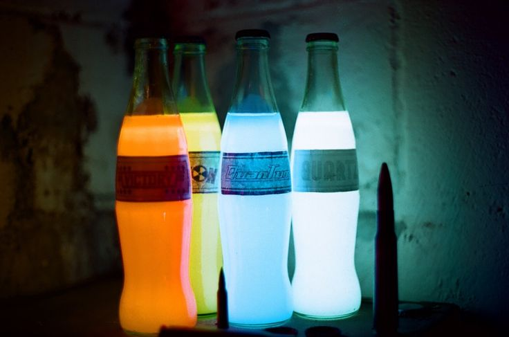 Nuka Cola Glow in the Dark Prop Bottles - Created by Jim HilliardAvailable for sale from his Etsy Shop.