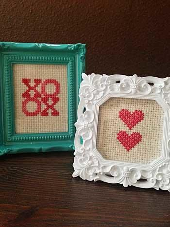 Free Valentine's Day cross stitch patterns