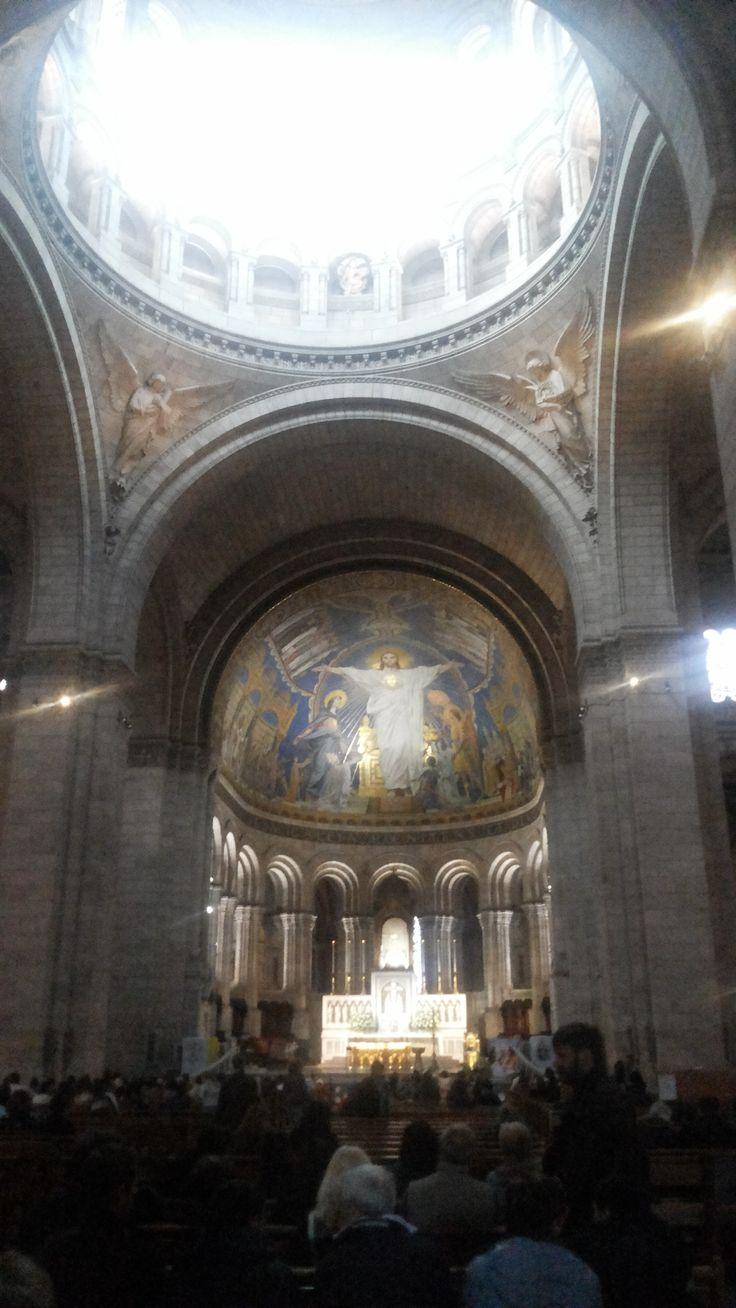 Vista interior de Le Sacre Coeur