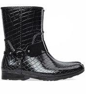Zwarte Michael Kors schoenen Croco Rainbootie regenlaarzen