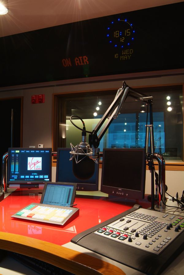 The radio studio will be something like this!