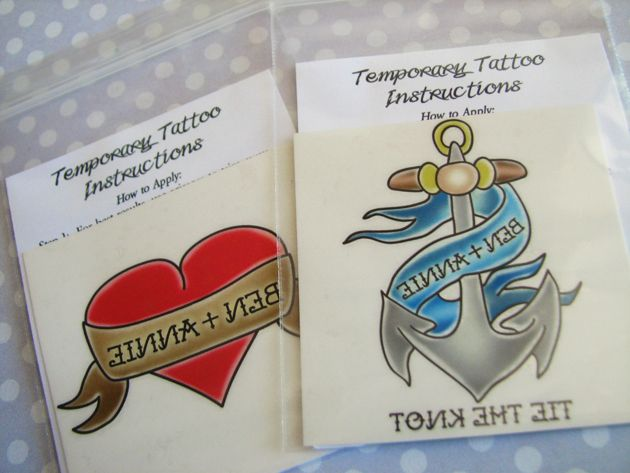 Wedding temporary tattoo favors favors wedding and weddings for Temporary tattoos wedding