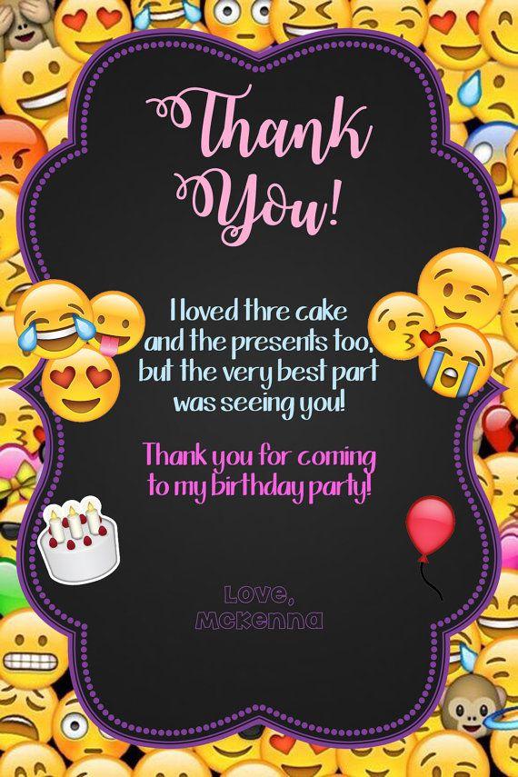 Invitación de Emoji  coincidencia gracias tarjeta