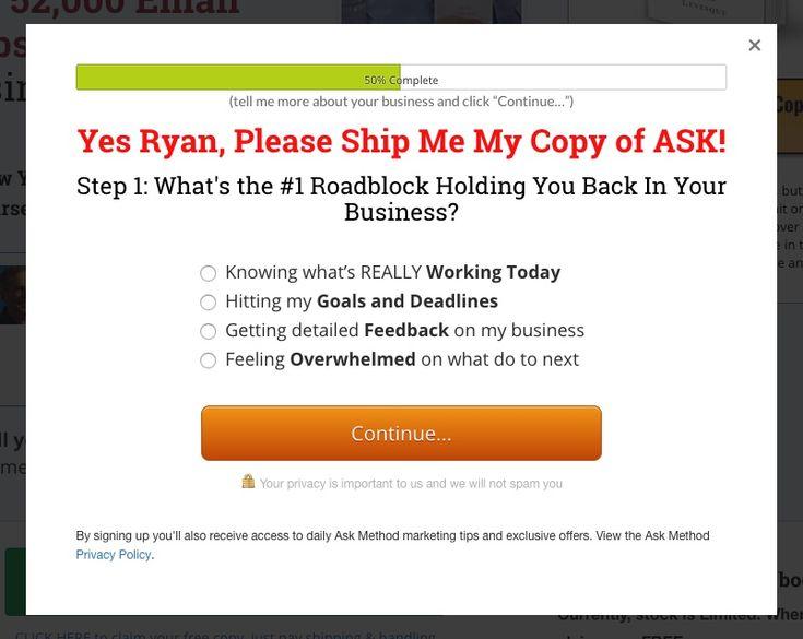 Optin for Downlaod Free Ask Method Book