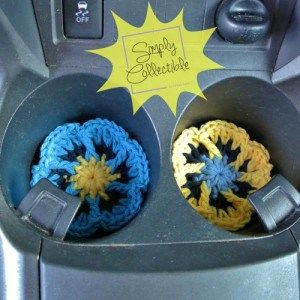 Flower Cup Holder Coasters free crochet patterns - 10 Free Coaster Crochet Patterns