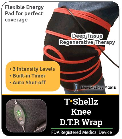 Knee injuries will heal faster with a Knee Inferno Wrap
