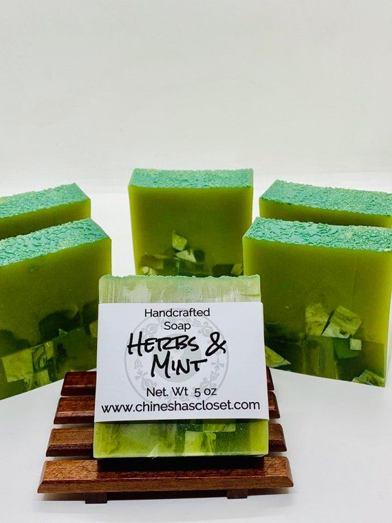 Herbs & Mint//Herbal Soap//Handcrafted Soap//Glycerin Soap//Gift