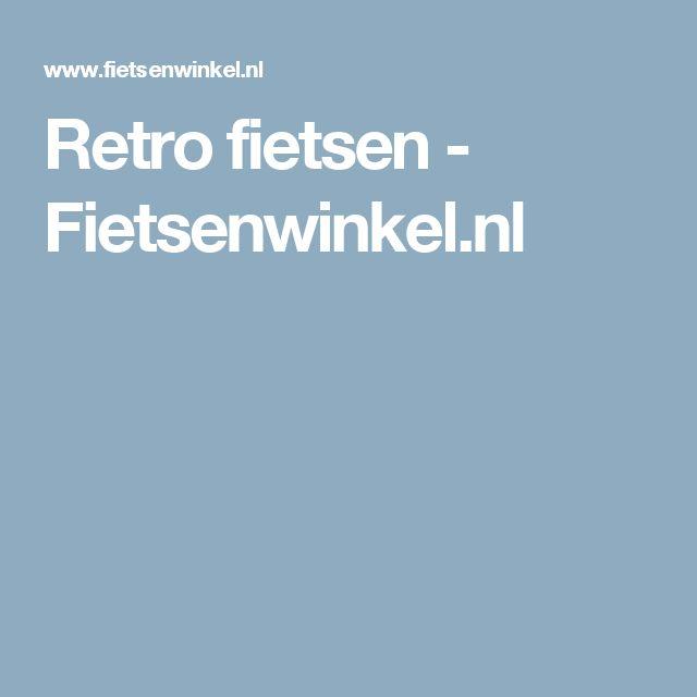 Retro fietsen - Fietsenwinkel.nl