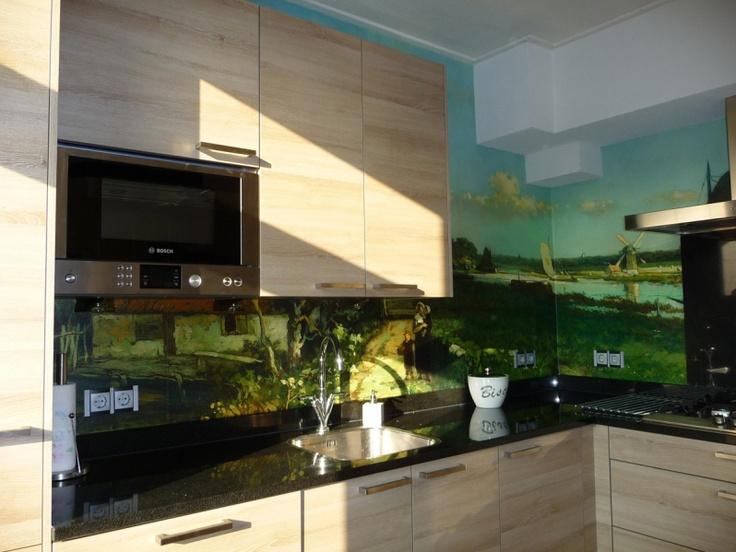 photo wallpaper on kitchen backsplash home decor pinterest